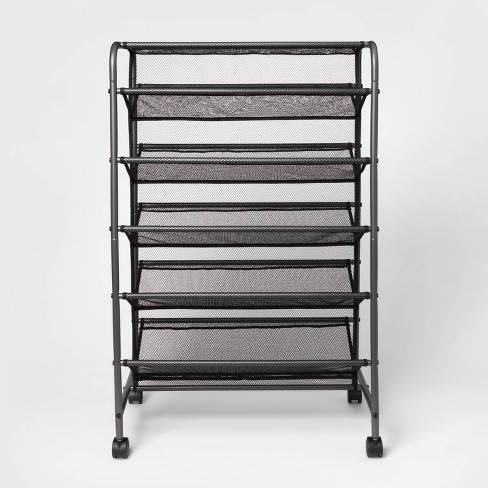 Double Sided Rolling Shoe Rack Black - Room Essentials™ - image 1 of 4
