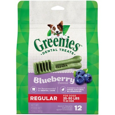 Greenies Blueberry Regular Dental Dog Treats - 12ct