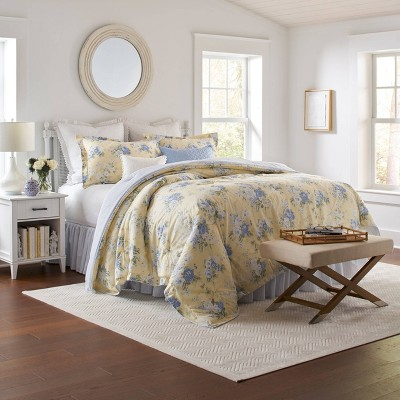 Laura Ashley Maybelle Comforter Set Yellow