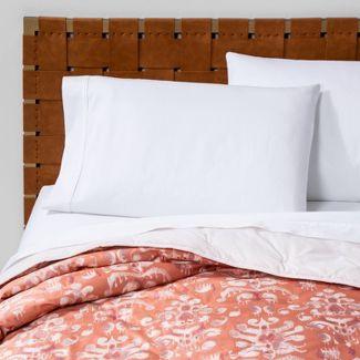 Full/Queen Ikat Tufted Velvet Quilt Coral - Opalhouse™
