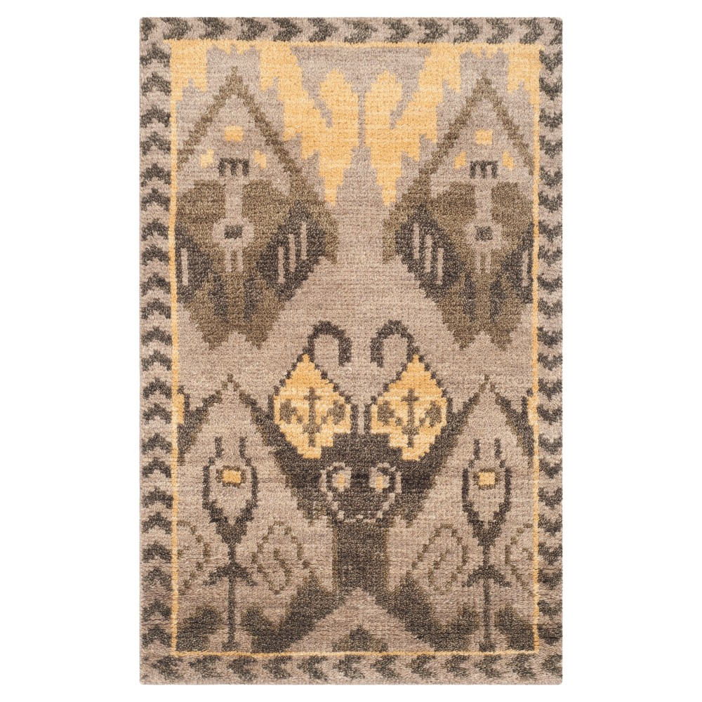 Gold/Beige Abstract Woven Accent Rug - (2'X3') - Safavieh, Gold Beige