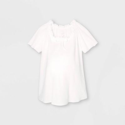 Short Sleeve Smocked Knit Maternity Top - Isabel Maternity by Ingrid & Isabel™