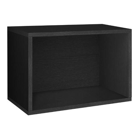 Way Basics Eco Stackable Large Rectangle Shelf and Shoe Organizer - Black - Lifetime Guarantee - image 1 of 6