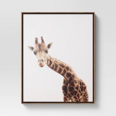"""24"""" x 30"""" Giraffe Framed Wall Art Pink - Project 62™"""