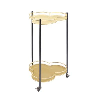 Felicity 2 Tier Clover Bar Cart Gold - Silverwood