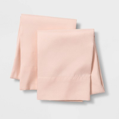 Set of 2 Solid Pillowcases Pink - Pillowfort™