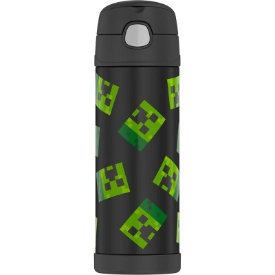 Thermos Minecraft 16oz FUNtainer Water Bottle - Black