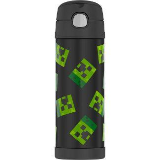 Thermos Minecraft 16oz FUNtainer Water Bottle - Black