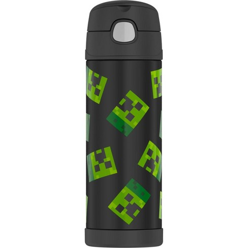 Thermos Minecraft 16oz FUNtainer Water Bottle - Black - image 1 of 4