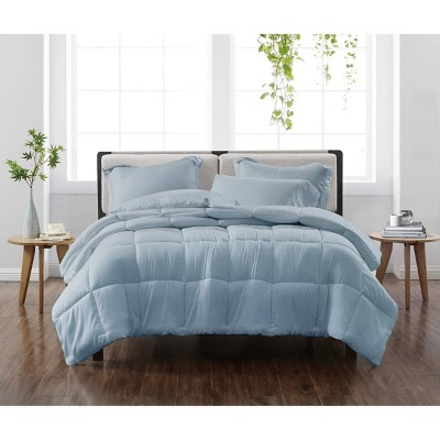 Full/Queen 3pc Solid Comforter Set Blue - Cannon Heritage