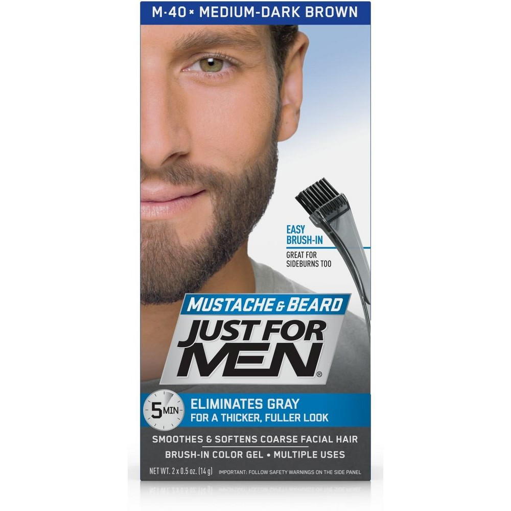 Image of Just For Men Mustache and Beard Med-Dark Brown M-40, Medium-Dark Brown M-40