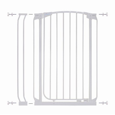 Dreambaby L796W Chelsea 28 to 35.5 Inch Auto-Close Baby & Pet Wall to Wall Safety Gate with Stay Open Feature for Doors, Stairs, and Hallways, White