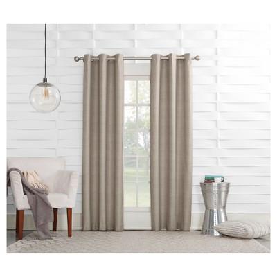 Haverhill Linen Texture Thermal Insulated Energy Efficient Grommet Curtain Panel Linen 40 x84 - Sun Zero