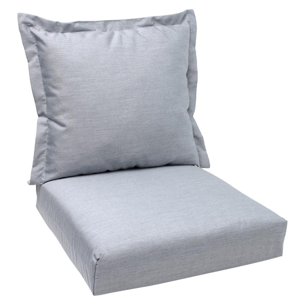 2pc Outdoor Deep Seating Cushion - Gray - Sunbrella