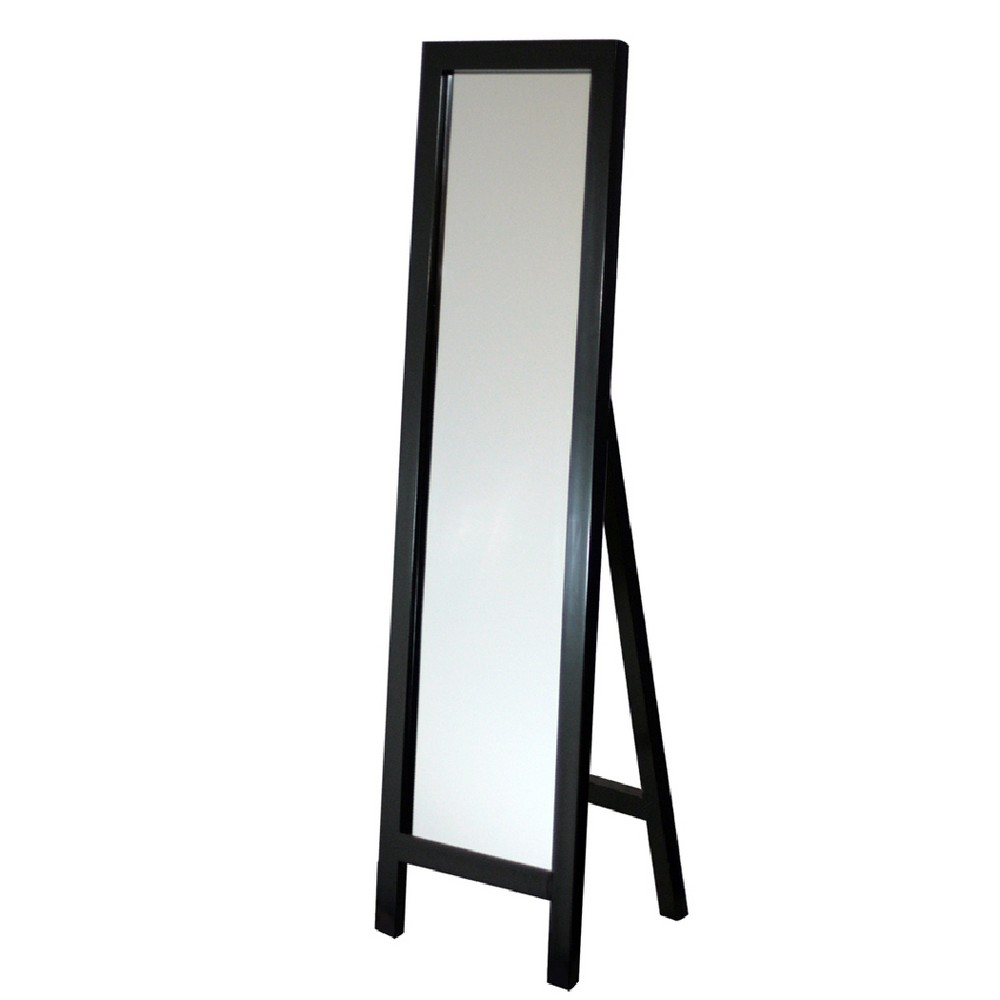 "Image of ""Head West 18""""x64"""" Easel Espresso Floor Mirror"""