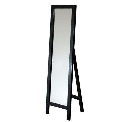 "Head West 18""x64"" Easel Espresso Floor Mirror - image 1 of 2"