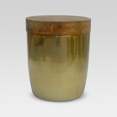 free shipping 79ea3 77ff9 Storage Drum Accent Table Gold - Threshold™