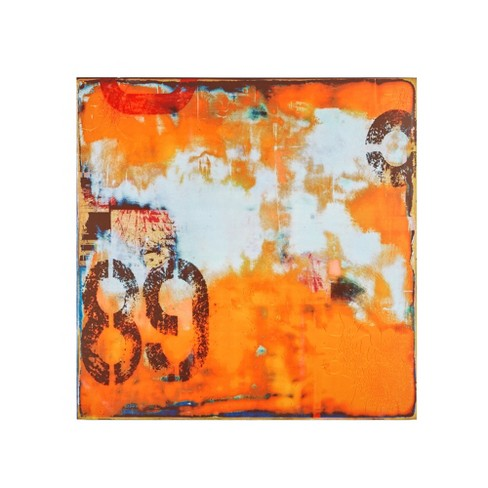 "Urban Collage 2 Printed Canvas Orange 39""x39"" - image 1 of 4"