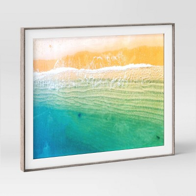 """8"""" x 10"""" Slanted Step Picture Frame Gray/White - Room Essentials™"""