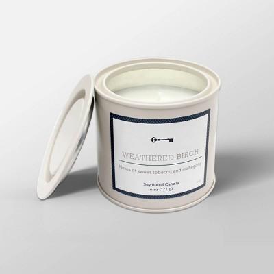 6oz Tin Jar Candle Weathered Birch - Threshold™