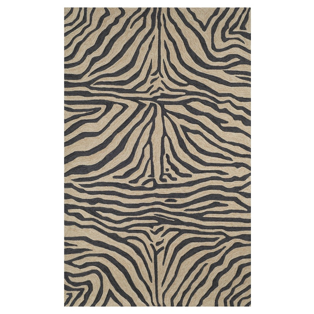 Liora Manne Ravella Zebra Indoor/Outdoor Area Rug - Black (5'X7'6)