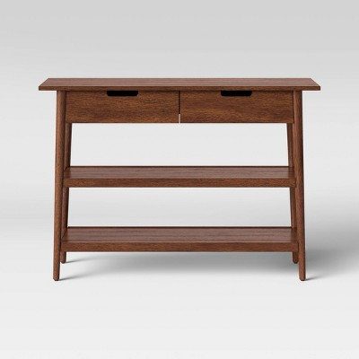 Ellwood Wood Console Table with Drawers Brown - Project 62™