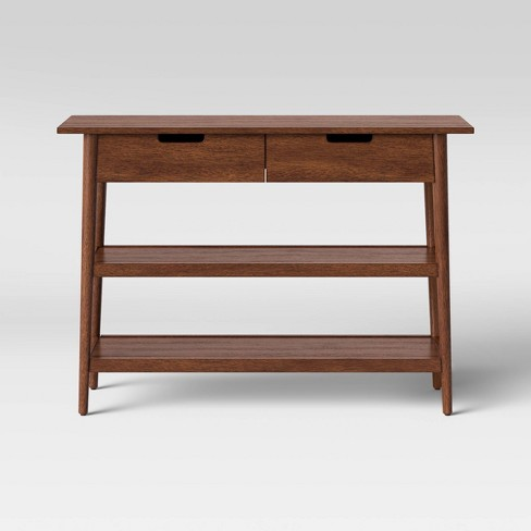 Excellent Ellwood Mid Century Modern Wood Console Table With Storage Brown Project 62 Creativecarmelina Interior Chair Design Creativecarmelinacom