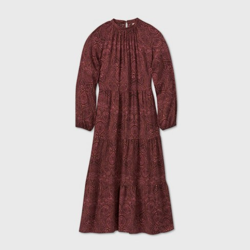 Women's Long Sleeve Tiered Dress - A New Day™ - image 1 of 2