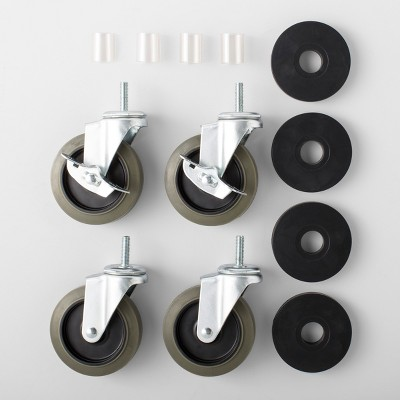 4pk Of Locking Caster Wheels - Made By Design™