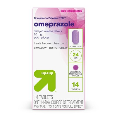 Omeprazole Acid Reducer Tablets - Wild Berry - 14ct - up & up™