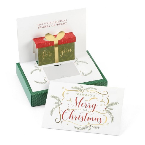 Merry Christmas Gift Card.10ct Merry Christmas Gift Card Holder Greeting Cards Masterpiece Studio