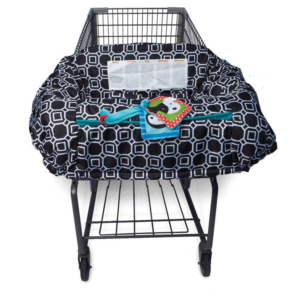 Boppy Company City Squares Grocery Cart Cover, Black
