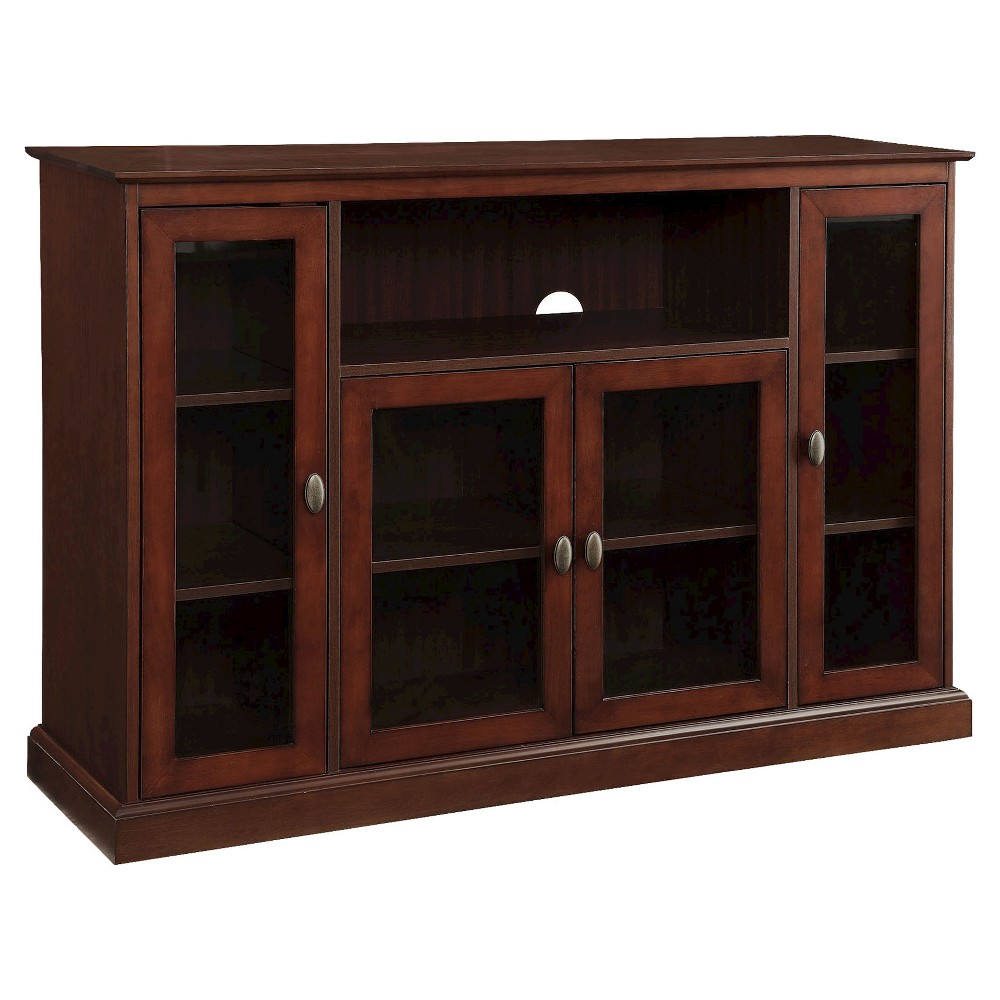 Image of Summit Highboy TV Stand - Espresso - Convenience Concepts, Brown