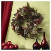 """24"""" Pinecone, Berry & Feather Wreath - Nearly Natural - image 2 of 3"""