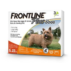 Frontline Plus Pet Insect Treatment for Dogs - 3 doses