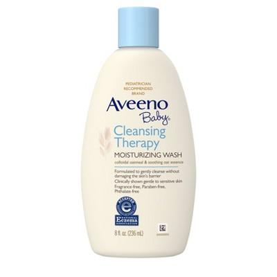 Aveeno Baby Cleansing Therapy Moisturizing Wash - 8 fl oz