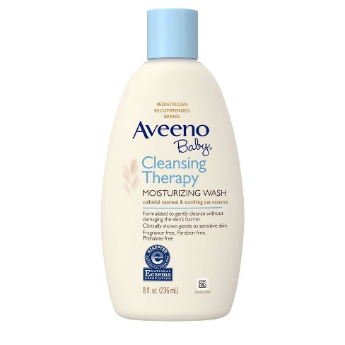Aveeno Baby Cleansing Therapy Moisturizing Wash - 8 fl oz - image 1 of 4