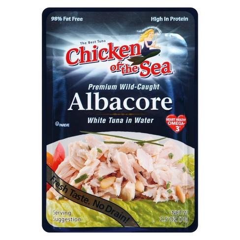 Chicken of the Sea Premium Wild-Caught Albacore White Tuna in Water 2.5 oz - image 1 of 1