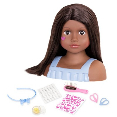 Our Generation Hair Play Styling Head Doll with Accessories - Nessa