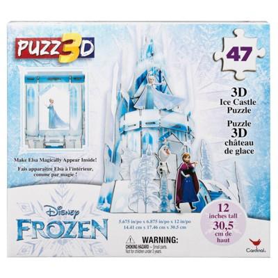 Cardinal Disney Frozen 3D Hologram Ice Castle Puzzle 47pc