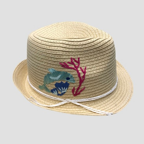 Toddler Girls' Oceans Embroidered Fedora - Cat & Jack™ 2T-5T - image 1 of 2