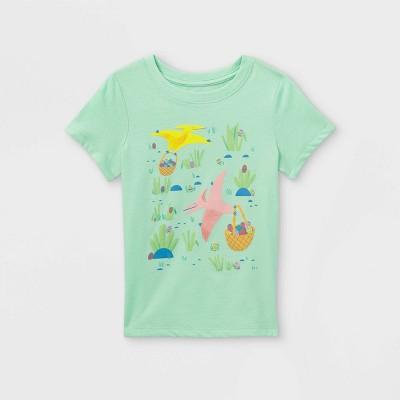 Toddler Boys' Dino Egg Hunt Graphic Short Sleeve T-Shirt - Cat & Jack™ Mint Green