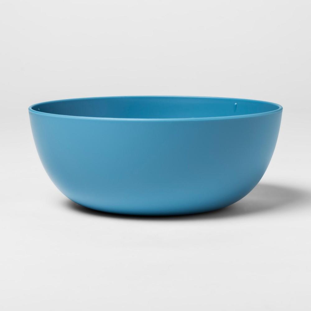 Image of 37oz Plastic Cereal Bowl Blue - Room Essentials
