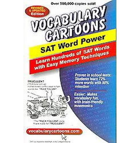 Vocabulary Cartoons : SAT Word Power (Revised / Updated) (Paperback) (Sam Burchers) - image 1 of 1