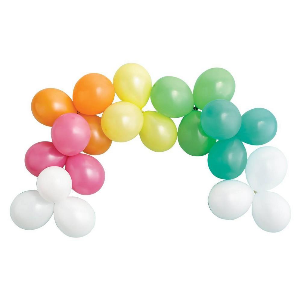Image of 21ct Rainbow Balloon Garland - Spritz