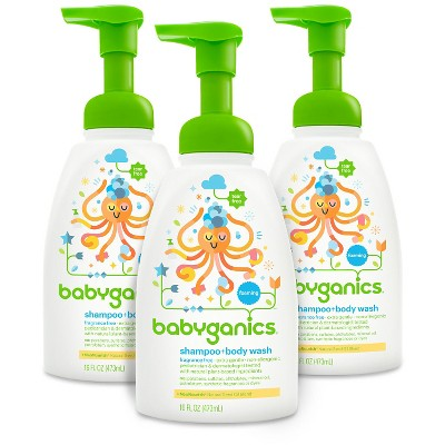 Babyganics Shampoo + Body Wash Fragrance Free - 16oz (3pk)