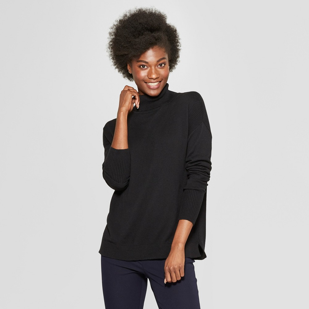 Women's Turtleneck Sweater - A New Day Black S