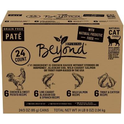 Purina Beyond Grain Free Pate Wet Cat Food Variety Pack - 3oz/24ct