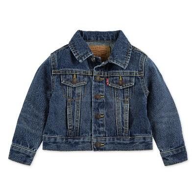 Levi's® Baby Medium Wash Trucker Jacket - Blue 6M