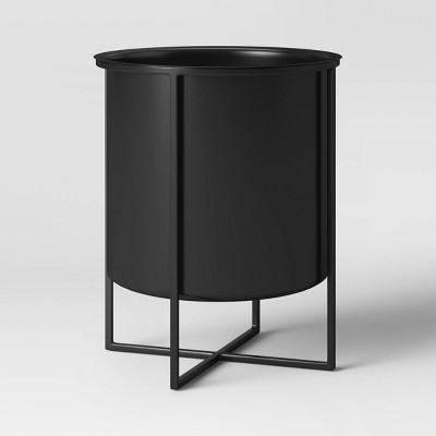 """16"""" Iron Planter With Black Stand - Project 62™"""